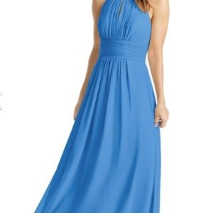 Azazie Bonnie  Dress Color: Blue Jay Size 8